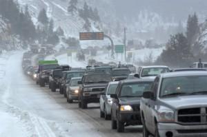 I-70 Snow traffic